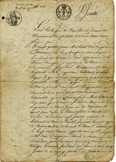 1822 Document. France.