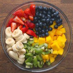 Rainbow Fruit Salad With Honey Lime Dressing - Rainbow Fruit Salad With Honey L. - Rainbow Fruit Salad With Honey Lime Dressing – Rainbow Fruit Salad With Honey Lime Dressing - Healthy Fruits, Healthy Snacks, Healthy Eating, Healthy Recipes, Healthy Food Tumblr, Healthy Fruit Desserts, Honey Lime Dressing, Fruit Salad Recipes, Fruit Salads