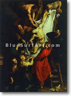 The Descent from the Cross (central part of the triptych) - £124.99 : Canvas Art, Oil Painting Reproduction, Art Commission, Pop Art, Canvas Painting