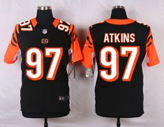 NFL Customize Cincinnati Bengals 97 Geno Atkins Black Men Nike Elite Jerseys cc2d1d070