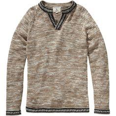 Marled Peruvian Pullover