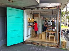 The Waterview Coffee Project Cafe, Auckland, New Zealand. http://www.facebook.com/TheWaterviewCoffeeProject - 20 foot container cafe
