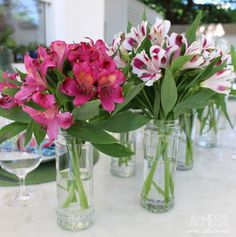 Alstroemerias are a good alternative for the tables If peonies are very expensive.