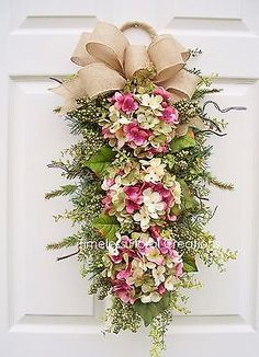 HYDRANGEA WREATH SWAG**SPRING BLOSSOMS**DECORATIONS FOR YOUR DOOR