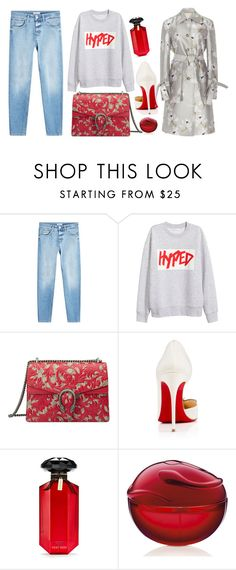 """Hyped"" by cherieaustin on Polyvore featuring Gucci, Christian Louboutin, Victoria's Secret and Brock Collection"