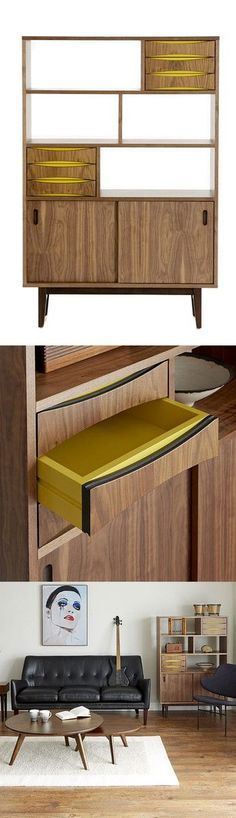 Mid Century inspired display storage unit | furniture design
