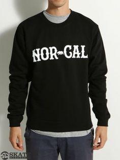Nor Cal True North Crew Sweatshirt Black SM