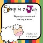 This free download comes with FIVE different activities that can be used with the book Sheep in a Jeep.