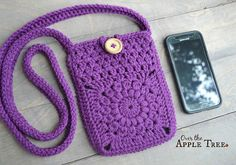 Granny Square cross body bag. Perfect for carrying phone and ID