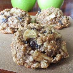 Healthy Apple Oatmeal Raisin Cookies by Rumbly in my Tumbly