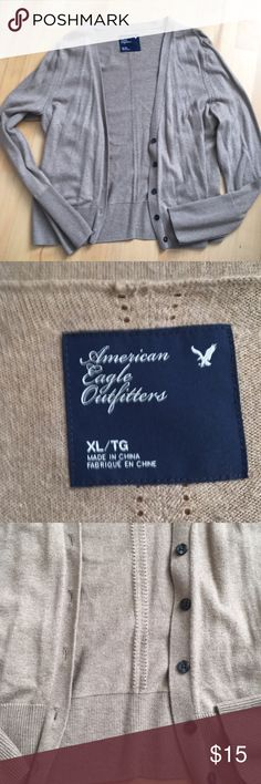 American Eagle Camel Cardigan Sweater American Eagle Camel Cardigan Sweater Size XL Worn but wonderful condition! American Eagle Outfitters Sweaters Cardigans