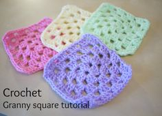 "Previous pinner said: ""the slowest and best explained tutorial for crocheting a granny square"""