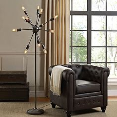 Spectrum Floor Lamp Modern Floor Lamp Twelve bulbs (not included) Steel Coated Black 110 Voltage UL Listed and Approved Assembly Required Flooring, Black Floor Lamp, Lamp, Decor, Floor Lamp, Bathroom Floor Plans, Contemporary Floor Lamps, Floor Lights, Modway Furniture