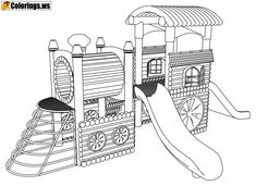 10 best Playground Coloring Pages images on Pinterest in