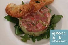 Tartaar van verse tonijn met guacamole