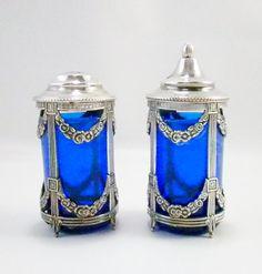 Vintage Cobalt Blue International Silver Company by oldandnew8