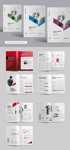 Annual report - 24 Pages - This annual report template reinvents the annual report by combining attractive design and business professionalism. Its clean layout Annual Report Layout, Annual Report Covers, Annual Reports, Page Design, Book Design, Layout Design, Web Design, Design Trends, Indesign Templates