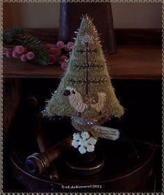 Sheep FeaTher Tree- pRimitive OriginaL Punch NeedLe FoLk ArT ChrisTmas Make-do | eBay