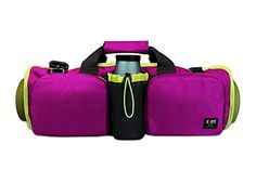 BUBM Yoga Mat Bag Carries Any Size Mat for Yoga or Pilates Large Pockets to Carry Other Accessories Water Bottle Towel and Straps Personal Items Inner Zippered Clothing CompartmentMagenta >>> Want additional info? Click on the image. (This is an affiliate link)