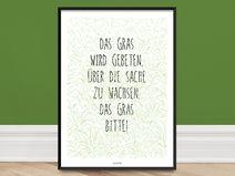 Kunstdruck Poster / Gras