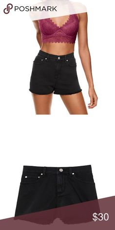 Pink High waisted Shorts Black  Pink High waisted shorts  Size 6 PINK Victoria's Secret Shorts Jean Shorts