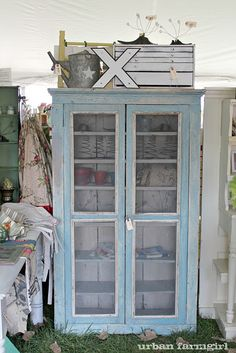 gorgeous blue cupboard