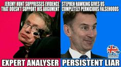 Stephen Hawking or Jeremy Hunt - who do you believe?