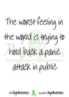 Panic attack in public = awful.