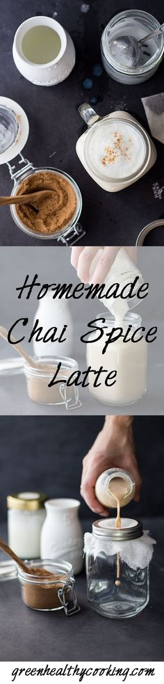 What better way to get in a good mood than by drinking this uuuuuh-mazing healthy Homemade Chai Spice Latte *little hearts in my eyes* by tami