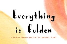 Everything Is Golden - Brush Font by Hello Brio Studio on @creativemarket