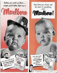 vintage old advertising baby malboro