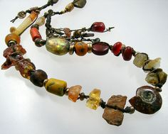 a veritable gem show around the neck ... vintage and rare elements throughout ... kathy van kleeck