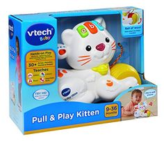 vTech Baby Pull & Play Kitten - White Activity Toy with Sound Light & Music Activity Toys, Activities, Baby Toys, Kids Toys, Vtech Baby, Baby Hands, Light Music, Baby Sister, Baby Registry