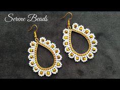 Beaded Earrings Patterns, Beading Patterns Free, Crochet Earrings, Seed Bead Jewelry, Seed Bead Earrings, Seed Beads, Earring Tutorial, Teardrop Earrings, Bead Weaving