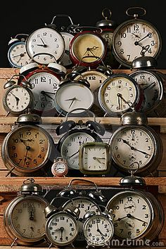 antique clock collection as New Years decor