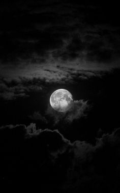 Dark Moon - Full moon in the clouds  Posted by hatedesign   Via abraxas218.tumblr.com