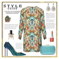 """""""Peacock style"""" by enmanes ❤ liked on Polyvore featuring Sweet Romance, D.S. & DURGA, Matthew Williamson, Jimmy Choo, Inge Christopher and Clinique"""