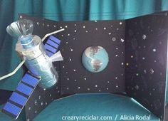 Maqueta de satélite, La Tierra, La Luna, los Planetas y todo el Universo !!! http://crearyreciclar.com/?p=1021