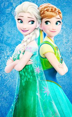 Elsa and Anna - love the outfits from the new short!