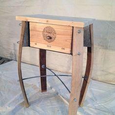 Wine Barrel Chairs, Wine Barrel Bar, Whiskey Barrel Furniture, Wine Barrel Furniture, Pallet Furniture, Crate And Barrel, Design Furniture, Wood Barrel Ideas, Wine Themed Decor