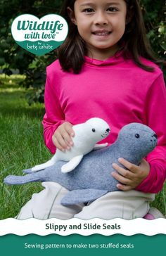 Slippy and Slide Seals #sewing #pattern