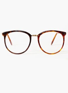 Nasty Gal Ivy League Glasses Tortoise in Gold