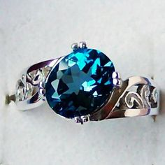 Genuine London Blue Topaz by cavaliercreations, etsy I really like this color and style of ring Sterling Silver Filigree, Filigree Ring, Silver Ring, Gemstone Jewelry, Diamond Jewellery, Fashion Accessories, Fashion Jewelry, London Blue Topaz, Semi Precious Gemstones