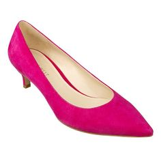 Pink Low Heel Pumps