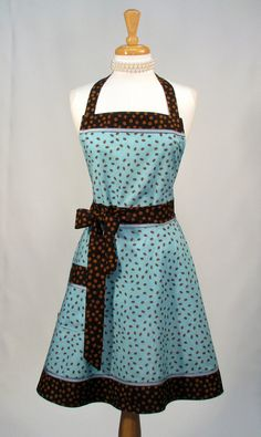 Classic Retro Womens Full Apron by SwankyPlaceAprons on Etsy, $42.00