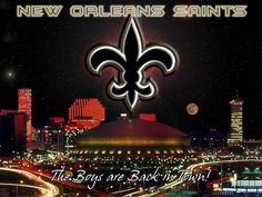 the boys are back in town Nfl Saints, New Orleans Saints Football, Who Dat, Lsu, Louisiana, Good Times, Boys, Sports, Seahawks