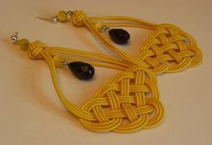 Chinese Knot Earring by elastic cord and leather cord - JEWELRY AND TRINKETS