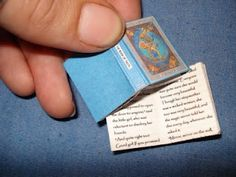 Miniature book tutorial. | I love books, and dollhouses - the best of both worlds here!