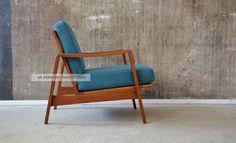 60er arne wahl iversen teak sessel danish design 60s easy chair teakwood komfort 1960 1969 bild
