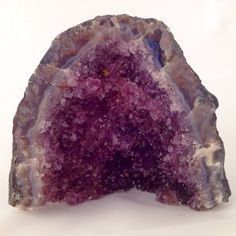Amethyst Cathedral Geode / 415 grams 4.5x4x1.5 by CrystalSensation #minicathedral #amethystcathedral #amethystdruzy